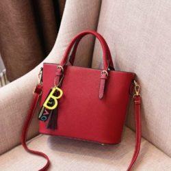JT8860-wine Tas Handbag Wanita Stylish Kekinian