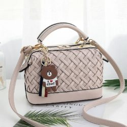 JT8872-beige Doctor Bag Fashion Import Wanita Elegan