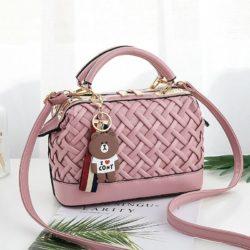 JT8872-pink Doctor Bag Fashion Import Wanita Elegan