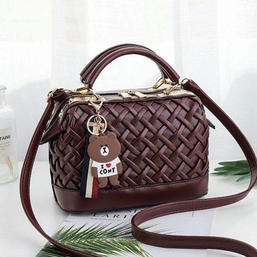 JT8872-purple Doctor Bag Fashion Import Wanita Elegan