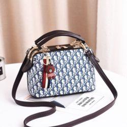 JT88765-blue Doctor Bag Gantungan Brown Wanita Cantik