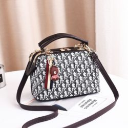 JT88765-gray Doctor Bag Gantungan Brown Wanita Cantik