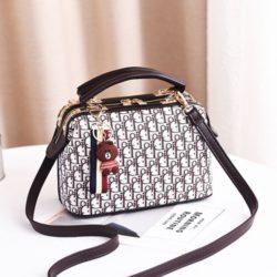JT88765-pink Doctor Bag Gantungan Brown Wanita Cantik