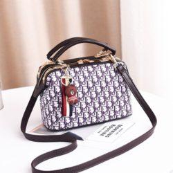 JT88765-white Doctor Bag Gantungan Brown Wanita Cantik