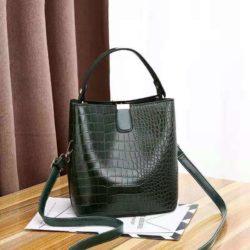 JT8881-green Tas Handbag Selempang Croco Wanita Cantik Import