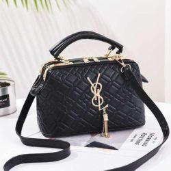 JT88963-black Doctor Bag Pesta Elegan Terbaru Import