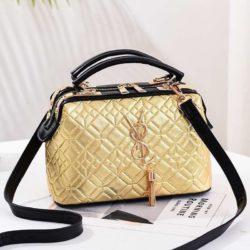 JT88963-gold Doctor Bag Pesta Elegan Terbaru Import