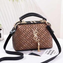 JT88963-khaki Doctor Bag Pesta Elegan Terbaru Import