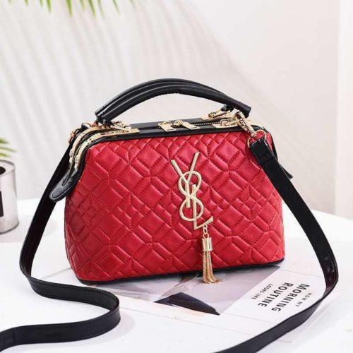 JT88963-red Doctor Bag Pesta Elegan Terbaru Import
