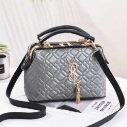 JT88963-silver Doctor Bag Pesta Elegan Terbaru Import
