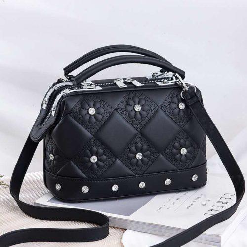 JT88969-black Tas Doctor Bag Fashion Import Wanita Cantik