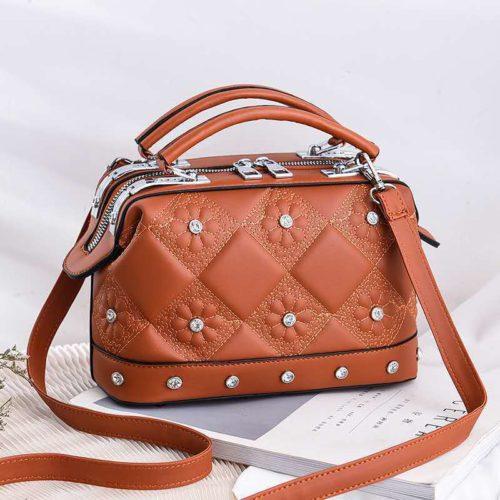 JT88969-brown Tas Doctor Bag Fashion Import Wanita Cantik
