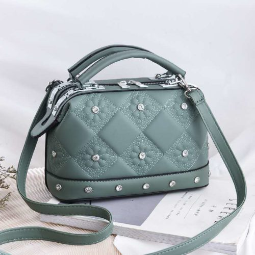 JT88969-green Tas Doctor Bag Fashion Import Wanita Cantik