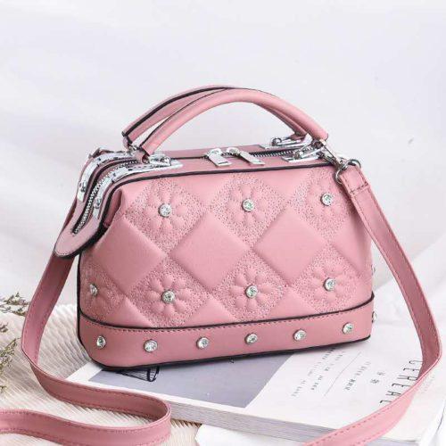JT88969-pink Tas Doctor Bag Fashion Import Wanita Cantik