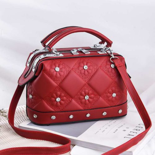 JT88969-red Tas Doctor Bag Fashion Import Wanita Cantik