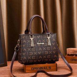 JT89071-axebrown Tas Handbag Selempang Wanita Elegan Import
