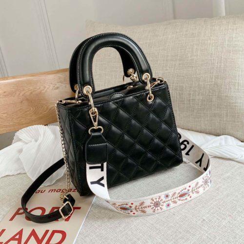 JT8910-black Tas Handbag Fashion Wanita Cantik Tali Selempang