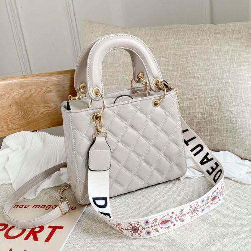 JT8910-gray Tas Handbag Fashion Wanita Cantik Tali Selempang