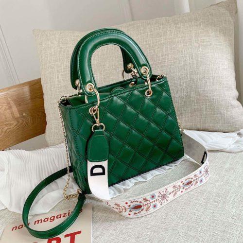 JT8910-green Tas Handbag Fashion Wanita Cantik Tali Selempang