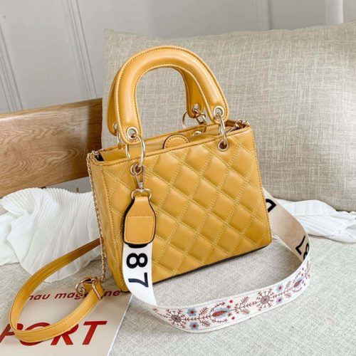 JT8910-yellow Tas Handbag Fashion Wanita Cantik Tali Selempang