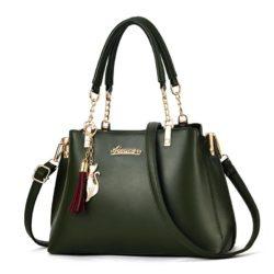 JT8916-darkgreen Tas Selempang Fashion Wanita Elegan Import