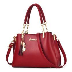 JT8916-red Tas Selempang Fashion Wanita Elegan Import
