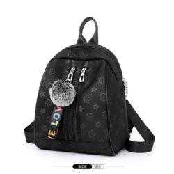 JT8972-black Tas Rasel Pom Pom Stylish Modis Import