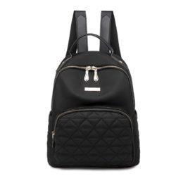 JT8981-black Tas Ransel Wanita Bahan Oxford Import