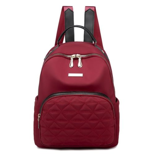 JT8981-red Tas Ransel Wanita Bahan Oxford Import