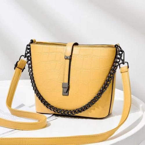 JT89971-yellow Tas Selempang Fashion Wanita Cantik Import Terbaru