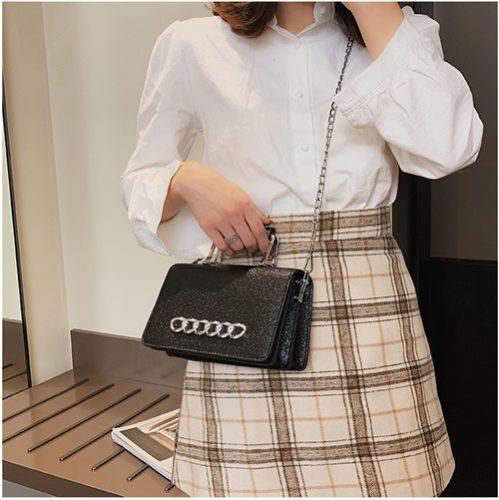 JT9009-black Tas Pesta Handbag dan Selempang Wanita