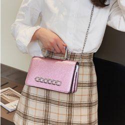 JT9009-pink Tas Pesta Handbag dan Selempang Wanita