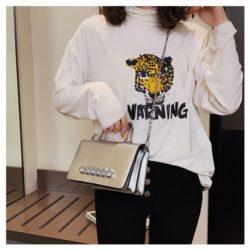 JT9009-silver Tas Pesta Handbag dan Selempang Wanita