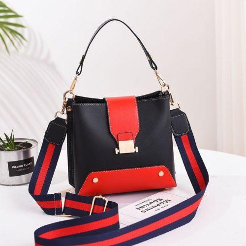 JT9018-black Tas Selempang Wanita Stylish Kekinian Import