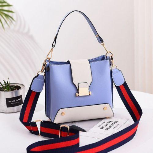 JT9018-blue Tas Selempang Wanita Stylish Kekinian Import