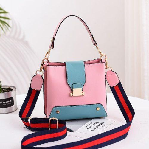 JT9018-pink Tas Selempang Wanita Stylish Kekinian Import