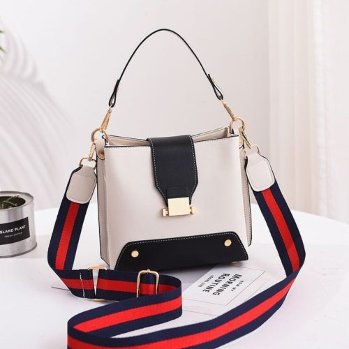 JT9018-white Tas Selempang Wanita Stylish Kekinian Import
