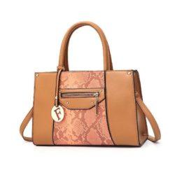 JT90180-brown Tas Handbag Wanita Cantik Elegan Import
