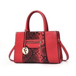 JT90180-red Tas Handbag Wanita Cantik Elegan Import