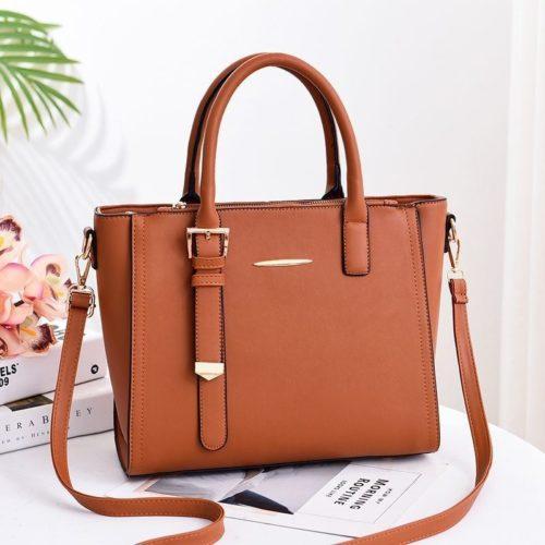 JT9019-brown Tas Handbag Wanita Cantik Import Terbaru