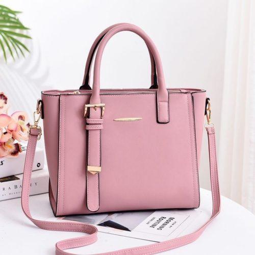 JT9019-pink Tas Handbag Wanita Cantik Import Terbaru