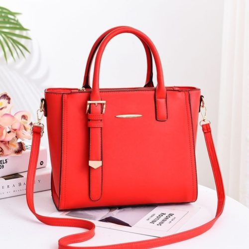JT9019-red Tas Handbag Wanita Cantik Import Terbaru