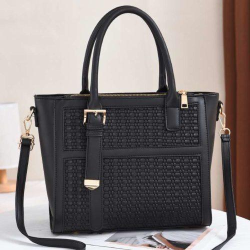 JT90191-black Tas Handbag Wanita Cantik Kekinian Import