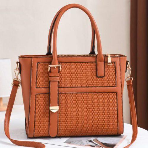 JT90191-brown Tas Handbag Wanita Cantik Kekinian Import