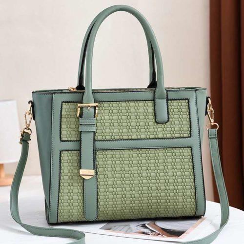 JT90191-green Tas Handbag Wanita Cantik Kekinian Import