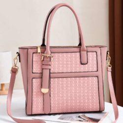 JT90191-pink Tas Handbag Wanita Cantik Kekinian Import