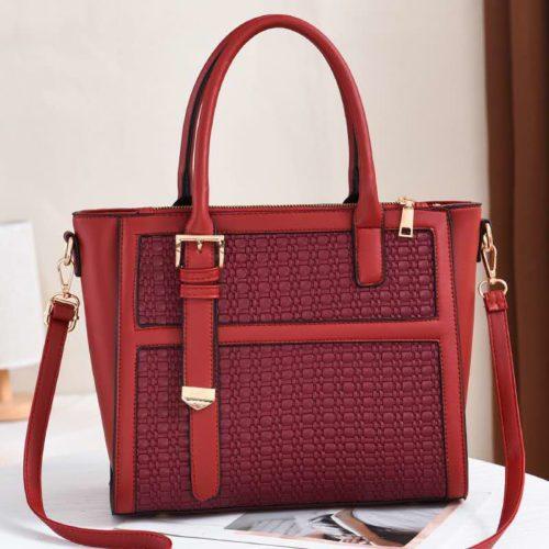 JT90191-red Tas Handbag Wanita Cantik Kekinian Import