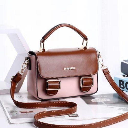 JT9021-pinkbrown Tas Handbag Cantik Modis Import Terbaru