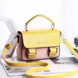 JT9021-pinkyellow Tas Handbag Cantik Modis Import Terbaru