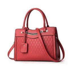 JT9028-red Tas Selempang Handbag Wanita Elegan Import